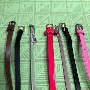 Accessories - Thin Fashion Belt Bundle *includes 7 belts*